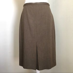 LOFT Front Pleated A-line Stretch Skirt